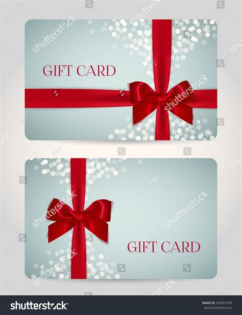 Festive Cards Templates by Gift Card Certificate Voucher Coupon Template Stock Vector