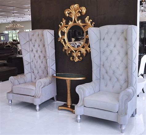 Baroque High Back Chair Salons Living Rooms And Room High Back Living Room Chair