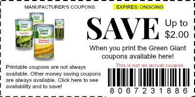 printable coupons for giant grocery store green giant coupons manufacturer coupons