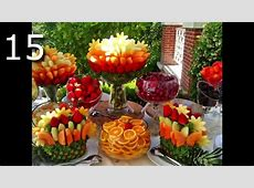 20 Arreglos Frutales Hermosos Y Cascadas Para Tu Fiesta ... Luau Food Ideas For Party