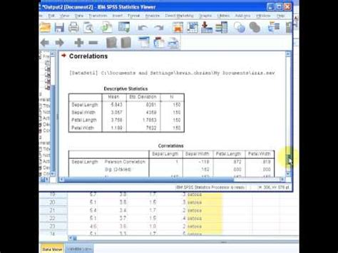 pattern matrix spss youtube spss correlation matrix youtube