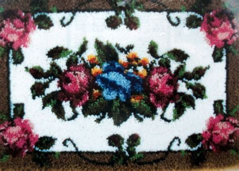 baby latch hook rug kits caron large latch hook rug kit quot roses quot ebay