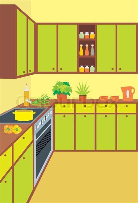 kitchen furniture relicreation furniture interiors kitchen furniture interior stock vector colourbox