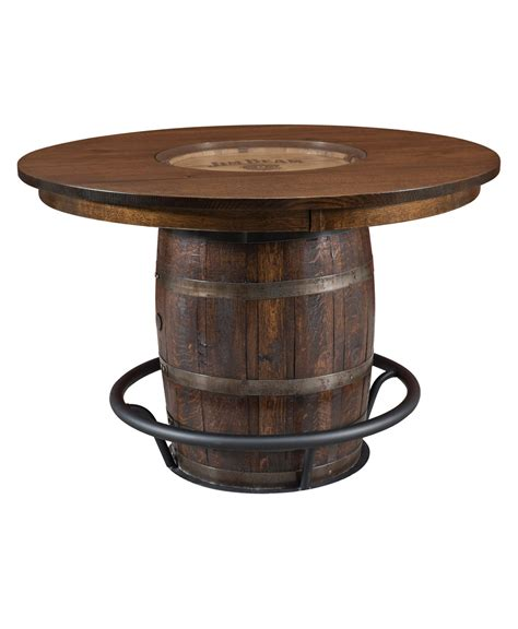 amish whiskey barrel table clermont barrel table amish direct furniture