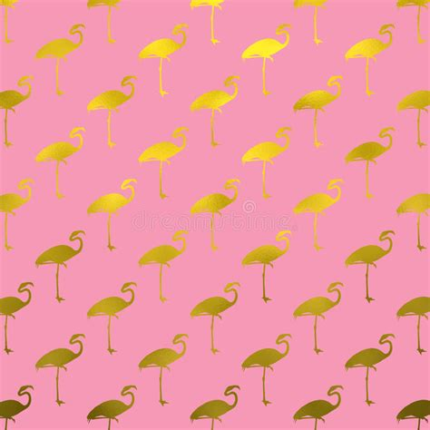 flamingo textured wallpaper gold flamingos pattern flamingo faux foil polk dots pink