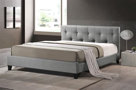 gray upholstered bed baxton studio bbt6140a2 full grey de800 annette gray linen
