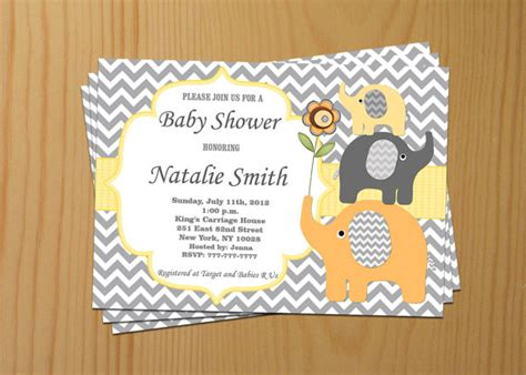Etsy Baby Shower by Baby Shower Invitation Elephant Baby Shower By Diymyparty
