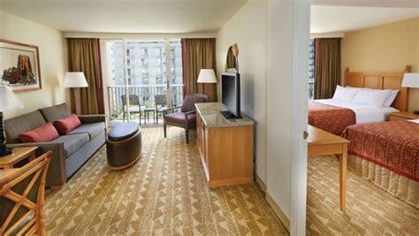 2 bedroom suites waikiki beach oahu one two bedroom suites embassy suites waikiki