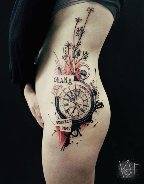 tattoo ink inspiration koit tattoo berlin graphic style compass in black red