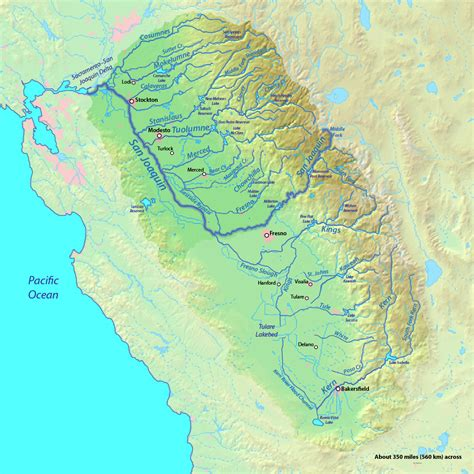 california map san joaquin valley sacramento and san joaquin rivers american rivers