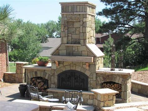 backyard stone fireplace outdoor stone fireplace landscaping network
