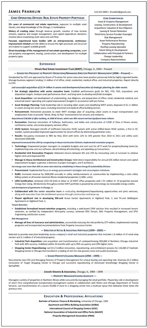 sle r 233 sum 233 chief operating officer certified resume