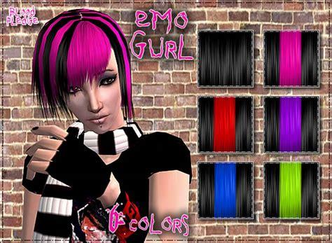 sims 2 emo hair mod the sims quot emo gurl quot xm 66 hair retexture