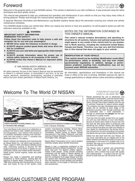 best car repair manuals 1997 nissan altima electronic toll collection 100 2007 nissan altima owners manual 2007 nissan altima warning reviews top 10 problems