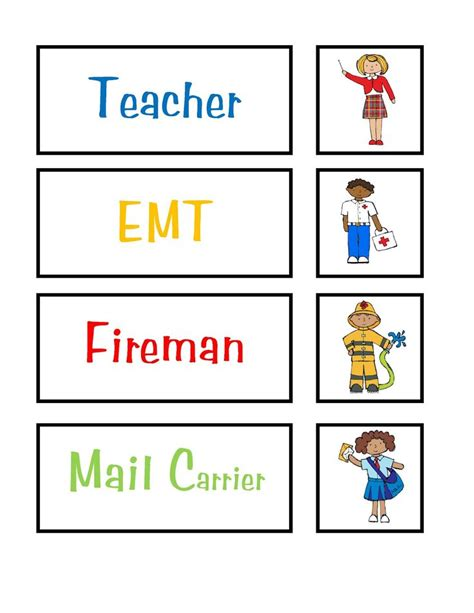 printable images community helpers 20 best images about community helpers preschool on