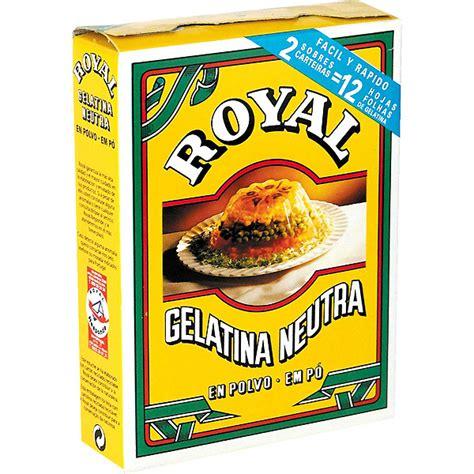 Royal Gelatina Neutra En Polvo Estuche 20 G Hipercor Tu