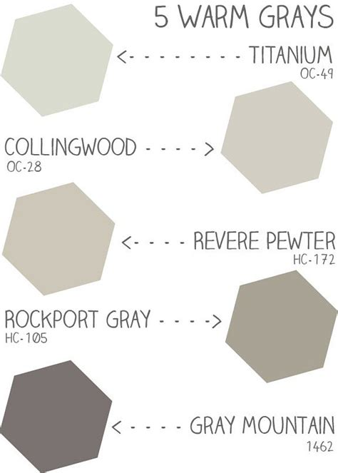 warm gray benjamin paint colors
