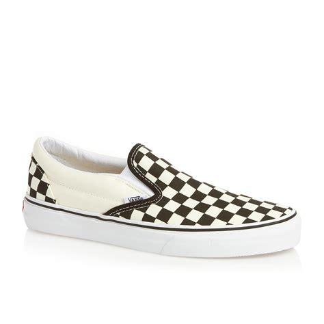 vans classic slip on shoes black white checker free uk