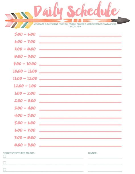 templates for children free printable printable daily schedule template for children helloalive