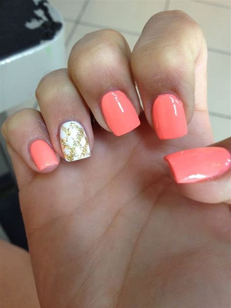 coral pattern nails the 25 best coral nails gold ideas on pinterest fashion