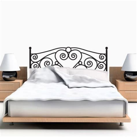 vinyl headboard wall decal scroll headboard queen size vinyl wall art decal
