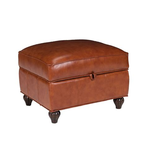 Opulence Home Benjamin Leather Storage Ottoman Reviews Leather Ottomans With Storage