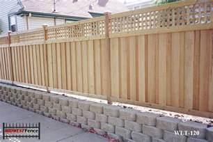 Cedar Trellis Panels Lattice Top Wood Privacy Fences Midwest Fence