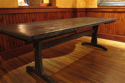 rustic dining room table for 10 houzz kitchen tile