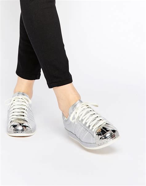 Adidas Silver superstar adidas silver metallic gmelectrobikes co uk