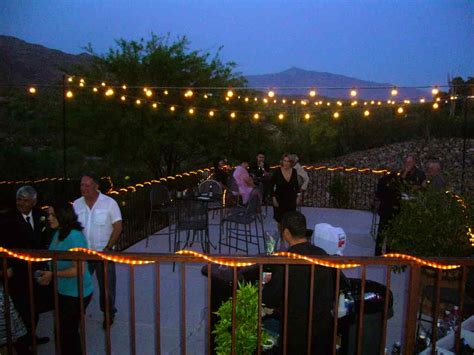 Patio Lights For Wedding Patio Lights On A Balmy Evening My Tucson Wedding