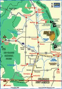 san luis valley local area map colorado vacation directory