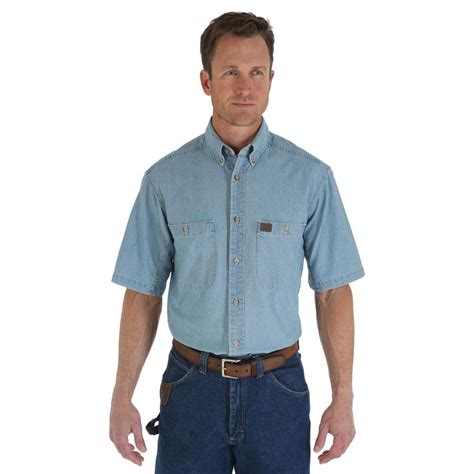 Rugged Mens Shirts by D D Outfitters Wrangler Rugged Wear Mens Shirt