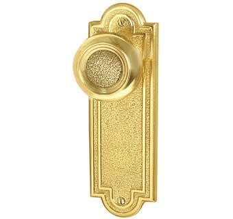 Decorative Door Knob Plates by Emtek Belmont 7 1 2 Quot Brass Door Handle Plate Shop