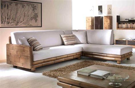 divani letto etnici divani etnici stile moderno in legno e bambu