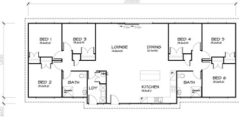 6 bed house plans 6 bedroom transportable homes floor plans