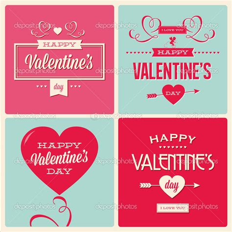 Boys Valentines Day Card Templates by Set Of Valentines Day Card Designs Many Variation Sle