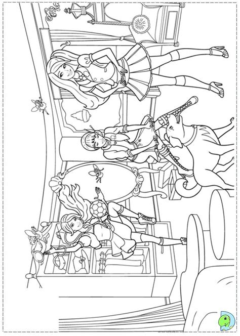 Barbie Princess Charm School Free Colouring Pages Coloring Pages Princess Charm School