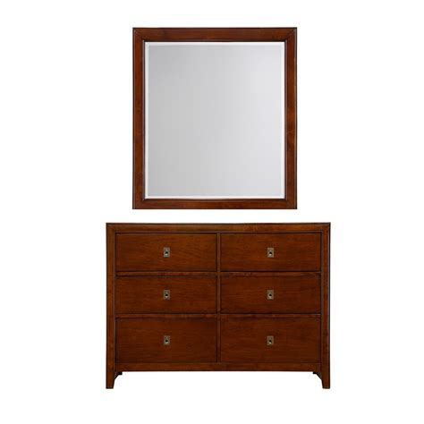Dresser Mirror by Dreamfurniture Albany Dresser Mirror In Antique Walnut