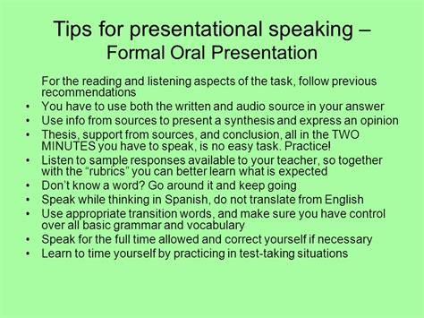 Tips For Speaking 2 by Preparing For The Ap Language Ppt