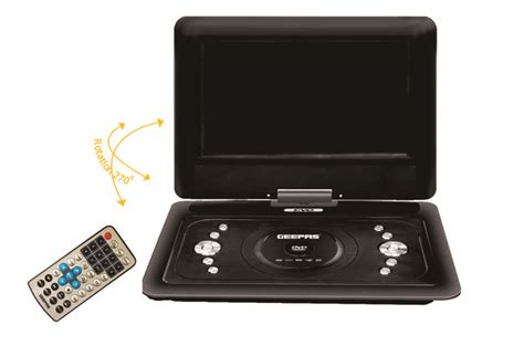 geepas dvd player video format 10 1 inch portable dvd player with tft led screen