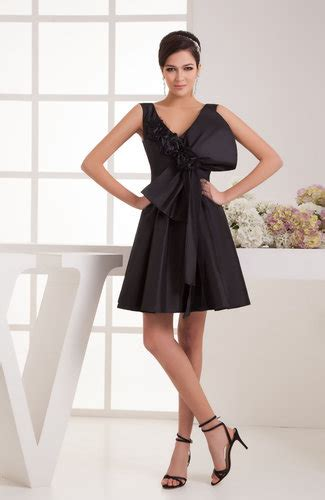 black summer cocktail dress petite mini classy formal