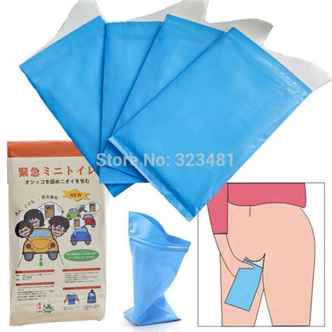 Camping Floor Mats by Japanese 4pcs Portable Travel Urine Bag Emergency Mobile