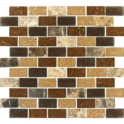 Ms International Sonoma Blend 12 In X 12 In X 8 Mm Glass Home Depot Mosaic Backsplash