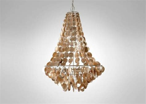 Gold Capiz Chandelier Hanging Gold Capiz Chandelier