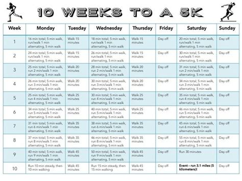 couch to 5k training calendar couch to 5k free printable 10 week program health