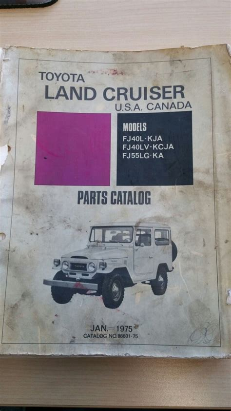 Toyota Dealer Parts For Sale 1975 Toyota Dealer Parts Catalog Price Lowered
