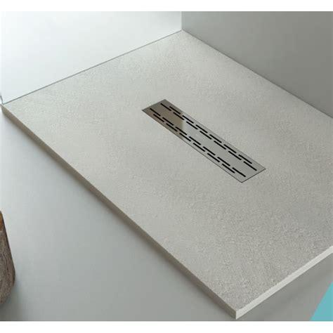 piatti doccia a filo piatto doccia in pietra sintetica con piletta di scarico a