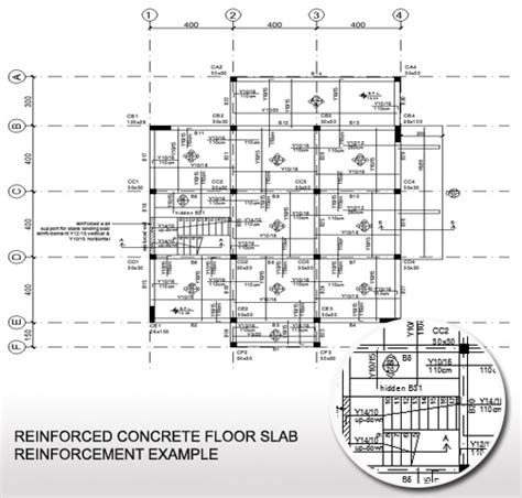 plan concrete concrete floor slab reinforcement exle plan view of a