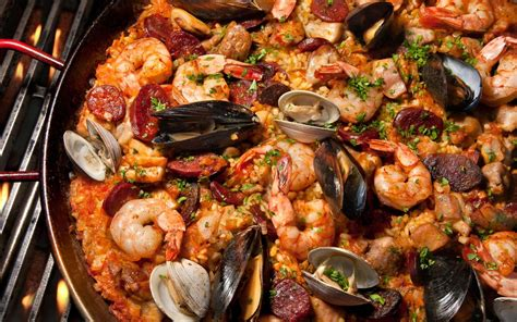Best Potluck Main Dish Recipes - grilled paella recipe chowhound