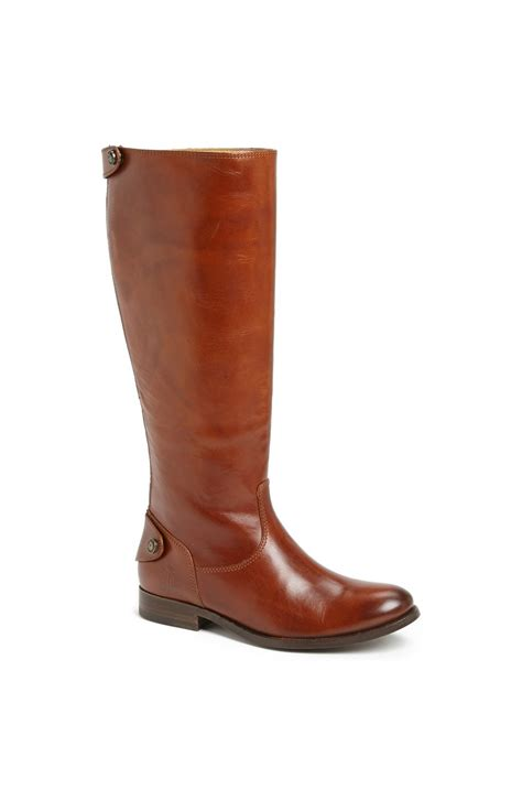 frye boots button frye button back zip boot in brown cognac